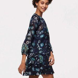 NWT Loft Garden Flounce Dress